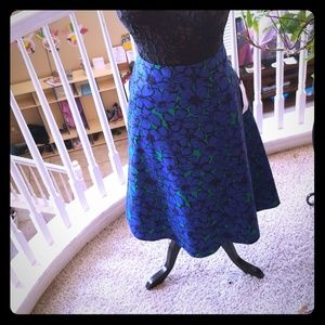 Blue and teal skirt